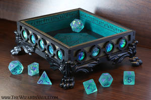 The Wizard's Vault Seafoam DnD Dice Tray by TheWizardsVault
