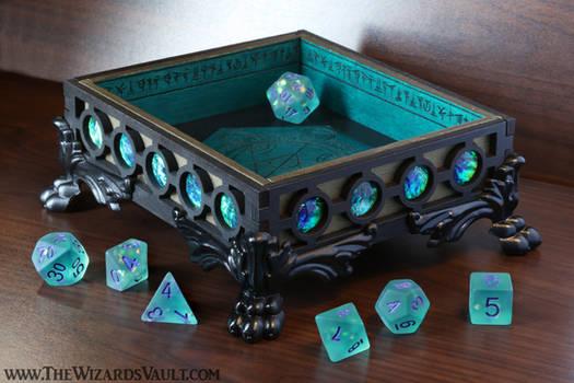 The Wizard's Vault Seafoam DnD Dice Tray