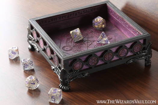 Wizard's Vault Dice Tray - Purple and black