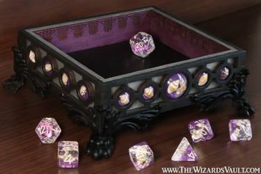 Violet Seashell Dice Tray