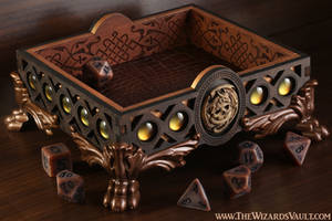 Copper Dragon Dice Tray by TheWizardsVault