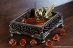 Gnome Artificer Dice Tray with Bat Cat by TheWizardsVault