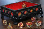 Red Wizard dice tray for tabletop role playing
