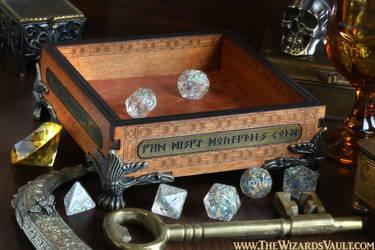 Dwarven Dice Tray for tabletop RPG.
