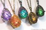 Ornate Filigree Magical Glowing Amulet