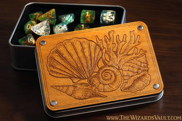 Ocean Seabed inspired dice case