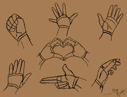 Simple Hand poses by TastyOranges