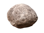Round cobble stone.
