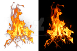 Fire on a transparent background.