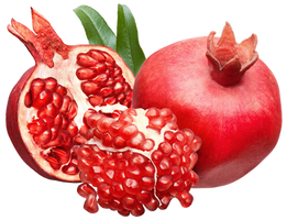 Pomegranate fruits on a transparent background. by PRUSSIAART
