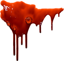 Drip blood on a transparent background. by PRUSSIAART