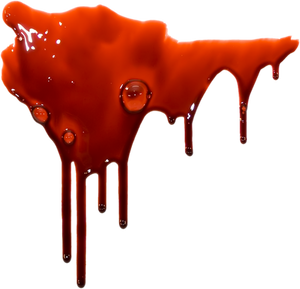 Drip blood on a transparent background.