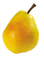 Juicy pear on a transparent background. by PRUSSIAART