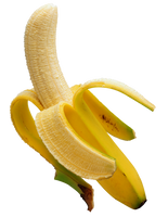 Ripe banana on a transparent background. by PRUSSIAART