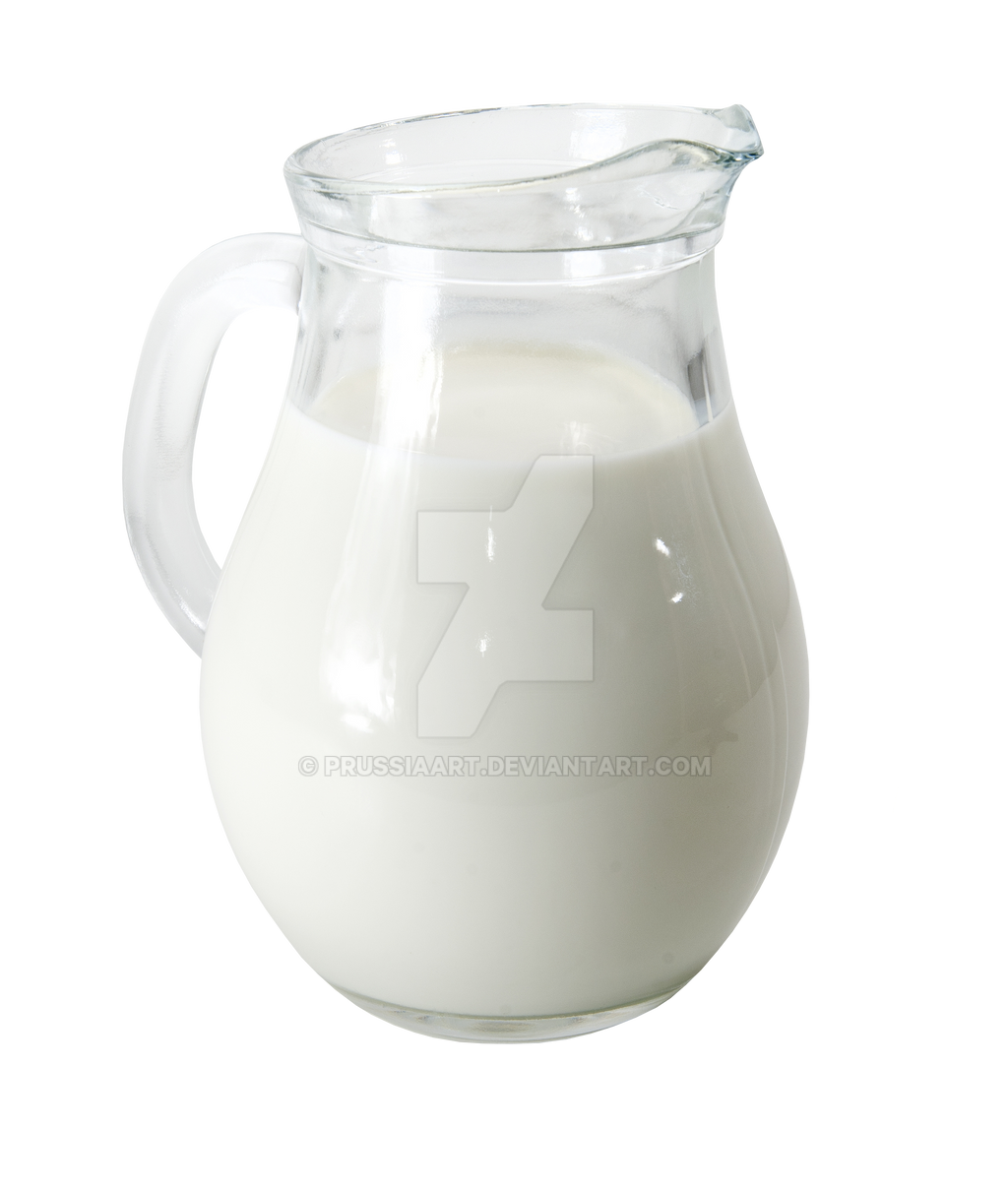 Transparent jug with milk. by PRUSSIAART on DeviantArt
