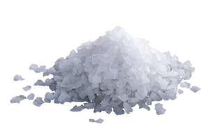 Particles of salt on a transparent background. by PRUSSIAART