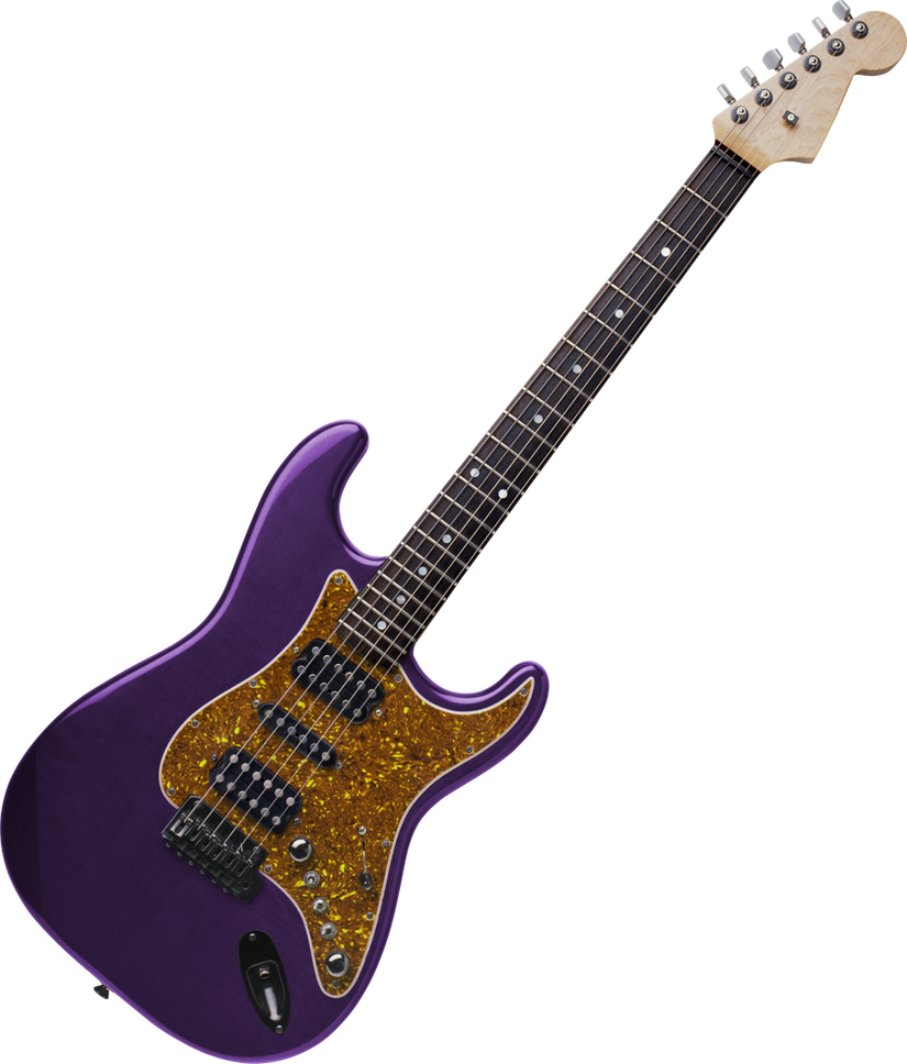 Electric Guitar On A Transparent Background By PRUSSIAART