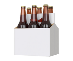 Box with bottles of beer. by PRUSSIAART