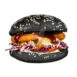 Black burger on a transparent background by PRUSSIAART