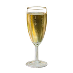 A glass of champagne on a transparent background.