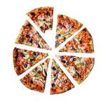 Cut pizza on a transparent background by PRUSSIAART