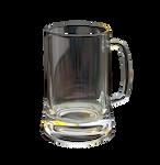Transparent beer glass on a transparent background