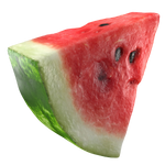 Slice of ripe watermelon