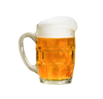 Glass of beer on a transparent background