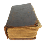 Old book on a transparent background