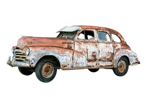 Old, rusty car on a transparent background by PRUSSIAART