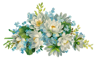 Flowers painted on a transparent background by PRUSSIAART