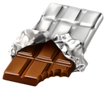 Bar of chocolate on a transparent background. by PRUSSIAART