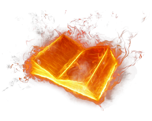 Fire book on a transparent background by PRUSSIAART