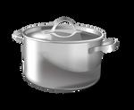 Aluminum pan on a transparent background.