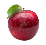 Red apple on a transparent background. by PRUSSIAART