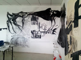 Work made in school into black colour