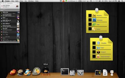 Dark Wood and Note it app