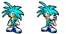 ice the hedgehog in pixel art by icethehedgehog11