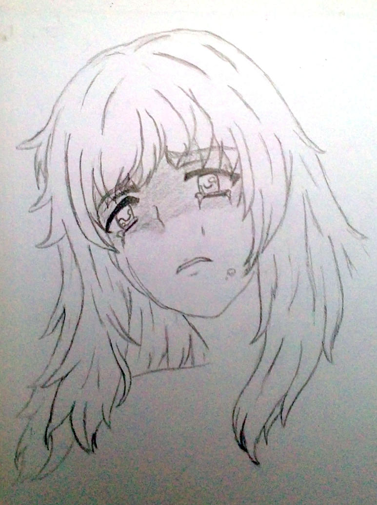 how to draw girl crying in corner drawing