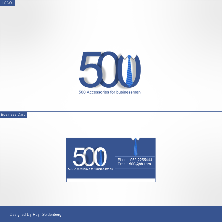 500 - LOGO + Business card by RC-man-Design
