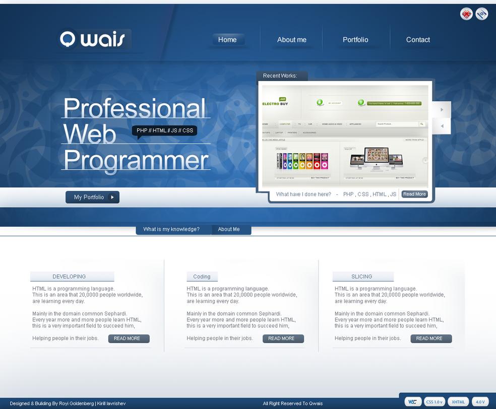 Qwais - Web Design by RC-man-Design