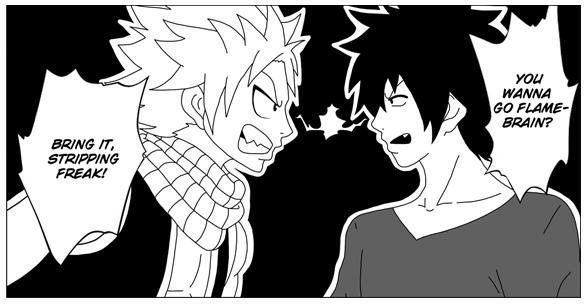 Natsu and Gray - Tension by LunetteFox