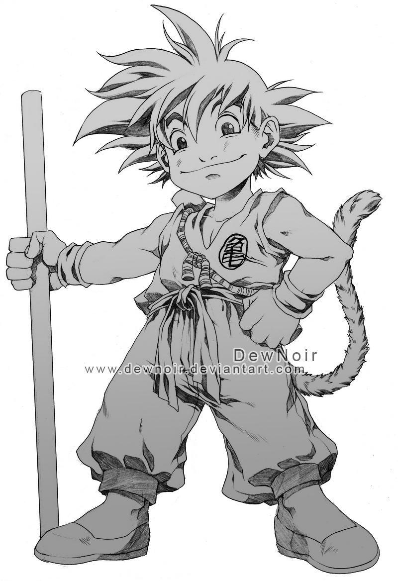 Son Goku_pencils by DewNoir