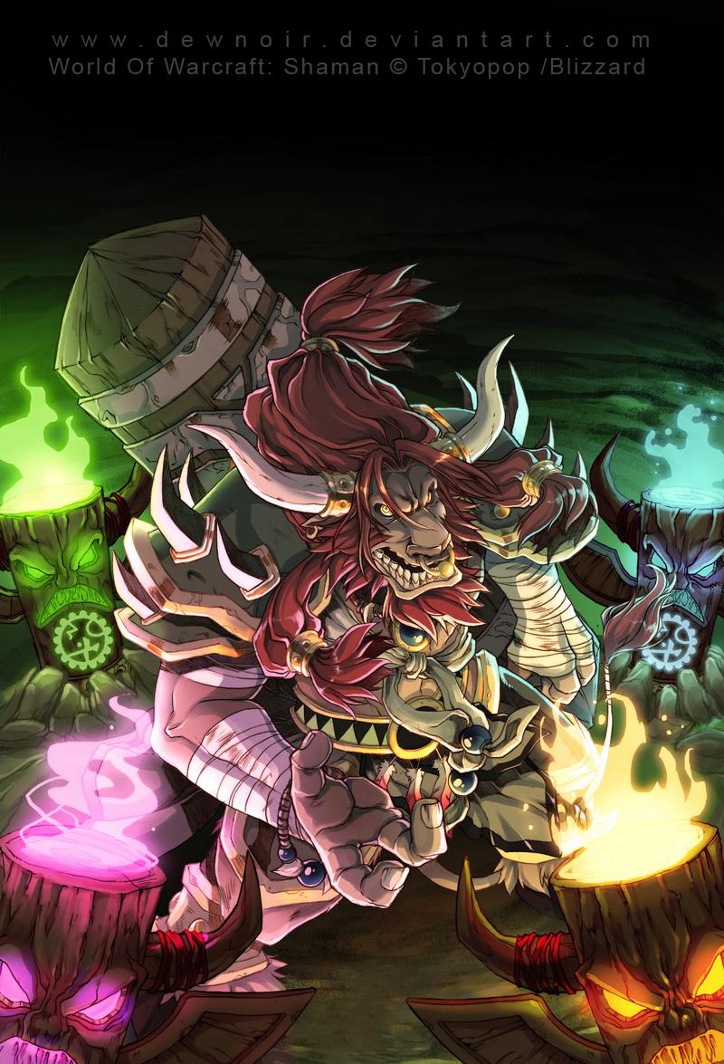 world of warcraft: SHAMAN by DewNoir