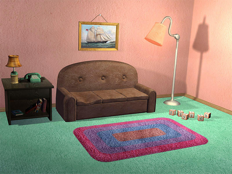 Simpsons tv room by ilyich on deviantart for Simpsons living room picture