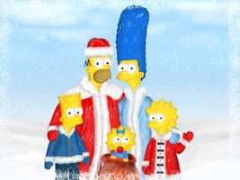 Christmas card from Simpsons by Ilyich
