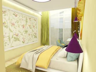 Girls bedroom by reformalietuva