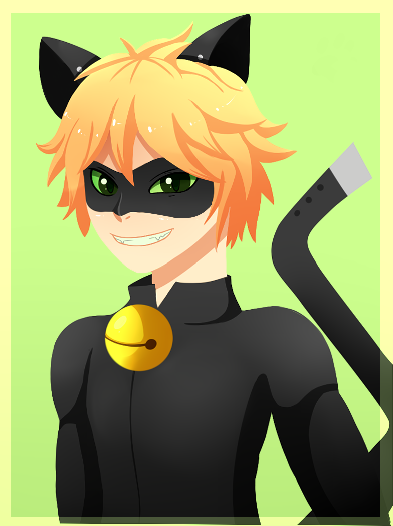 It is an image of Witty Chat Noir Drawing