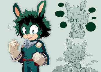 Deku the rabbit by hikariviny