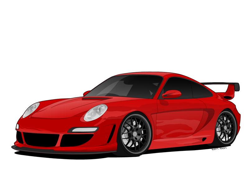 Image Gallery Cartoon Porsche 911